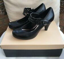 Carvela black leather high heel shoes EU size 37 (UK4/4.5)