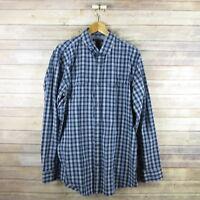 BANANA REPUBLIC Men Slim Fit Long Sleeve Button Front Shirt XL Extra Large Blue