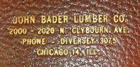 Vintage John Bader Lumber Co. Chicago, Illinois Advertising Leather Wallet Nice!