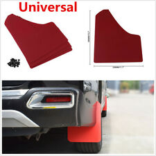 4Pcs Red Moulding Mudflaps Mud Flaps Splash Guards Universal For Car SUV Racing