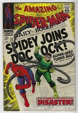 The Amazing Spider-Man #56 Jan 1968 Marvel Spider Joins Doc Ock! Stan Lee 6.0 FN