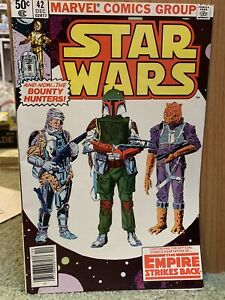 Star Wars #42 (1977)  9.2 NM - 1st Appearance Boba Fett & Yoda Lando Comic Book
