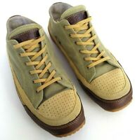 ORVIS Leather Canvas Fashion Sneakers Men's Size 9 Casual Shoes Olive Brown