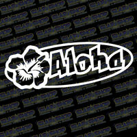 Aloha Hawaiian Vinyl Sticker Decal Design Ocean Hawaii Beach Car Truck