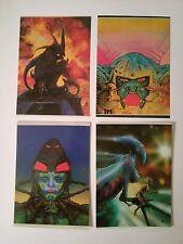 4 cartes postales Philippe Druillet 1979 Les Humanoïdes Associés