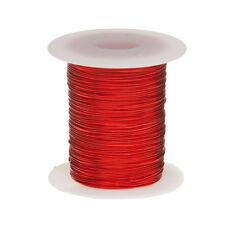 "24 AWG Gauge Enameled Copper Magnet Wire 8 oz 401' Length 0.0211"" 155C Red"