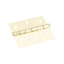 """One Pair- Polished Brass- Shutter Hinges- 2-1/2"""" x 2-1/2"""" Swaged Butt Hinges:"""