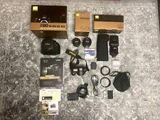 Nikon cámara réflex d90 objetiva 50mm relámpago sb-900 extras paquete de accesorios