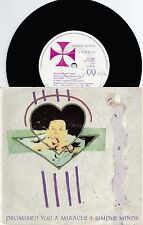 Simple Minds~Original OZ PS 45 Promised you a miracle EX 1981 New wave Jim Kerr