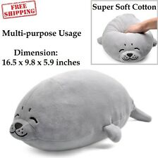 Plush Seal Pillow Stuffed Soft Giant Big Doll Toy Kid Chair Chest Pets Grey New