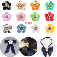 5 X Flower Badge Sequin Patches Sew on Patch Crystal Applique Sewing&Fabric
