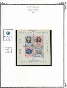 WC1_8272. GUATEMALA. 1937 ANNIV. US CONSTITUTION souv. sheet. Scott C92 . MNH
