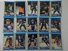 1989-90 O-Pee-Chee OPC Buffalo Sabres Team Set of 15 Hockey Cards