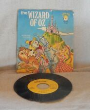 Vintage The Wizard Of Oz Record Peter Pan Players 45 RPM + Picture Sleeve Rare