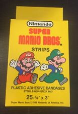 Vtg RARE 1989 Nintendo Super Mario Bros. Band-Aids Unopened Full Box NOS 80's!