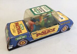 Sesame Street Vintage Puppets 1970s Child Guidance Topper Police CarToy 1975