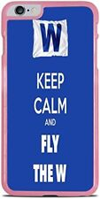 Keep Calm and Fly The W Cubs Pink Hardshell Case for iPhone 6 Plus (5.5) New