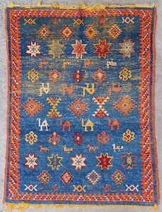 Antique rug/carpet Moroccan Tribal Oriental Berber 1900