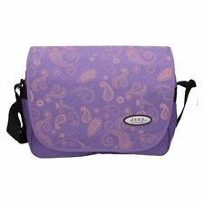 Jeep Ladies Girls Purple Floral Print School Laptop Messenger Courier Bag