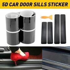 4x Accessories Carbon Fiber Car Scuff Plate Door Sill Cover 5D Sticker Protector