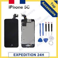 ECRAN COMPLET IPHONE 5C NOIR VITRE TACTILE + LCD RETINA SUR CHASSIS + OUTILS