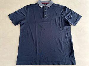 FootJoy Smooth Pique Polo Shirt XL Navy