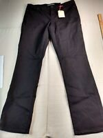 Lands' End - Mid Rise True Straight Jeans - Women - Tall - 18 - Black