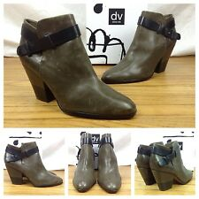 Dolce Vita NEW Sexy Hilary Olive Black Leather Ankle Bootie Boots SZ 10 $189