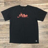 Rare Nike Mens Chicago Jordan Bred Swoosh Collab Misprint T Shirt size M