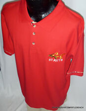 "Tropical World Polo Shirt ""St. Kitts"" NEW 100% Cotton Red Men's Extra Large"
