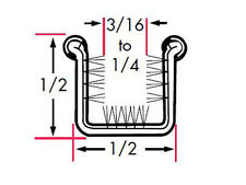 Universal Weatherstrip / Door Glass Run Channel / Stainless-Core Rigid Uncovered