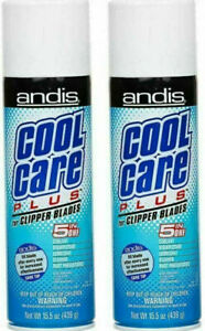 Andis Cool Care Plus 15.5 Oz Spray For Clipper Trimmer Blade Cleaner (2 Pack)