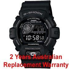 CASIO G-SHOCK SOLAR MEN WATCH SUPER LED GR8900A-1 GR-8900A-1DR BLACK 2Y WARRANTY