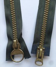 Heavy Duty, Double Ended, 24 inch Dark Green and Gold Zip