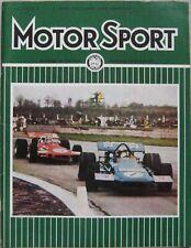 Motor Sport Magazine June 1970 featuring Reliant Scimitar GTE