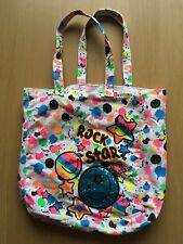 Rock Star White Canvas Tote Bag