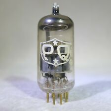 Amperex PQ E88CC/6922 O-Getter White Label Gold Pin USA 1964