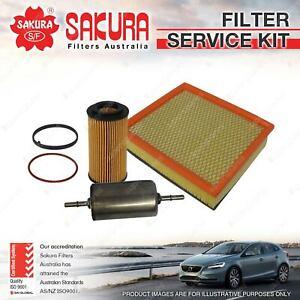 Sakura Oil Air Fuel Filter Service Kit for Volvo C30 C70 S40 V50 2.4L 2.5L 5Cyl