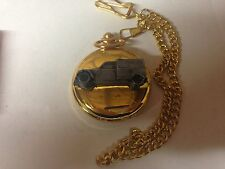 Citroen 2CV Van ref44 pewter effect emblem gold quartz pocket watch