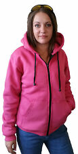 New PINK Ladies Motorcycle Hoodie Kevlar® Lined & CE Removable Armour