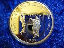 CONGO DRC SILVER PROOF 10 francs 2001-World Cup 2002 Japon .925 25.83 G