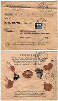 Regno - Imperiale perfin su assicurata da Napoli a Milano, 07/08/1934