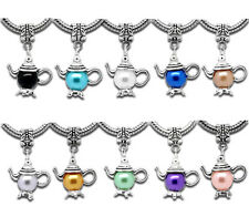 10 Mixed Teapot Dangle Beads Fit Charms Bracelet 32x21mm