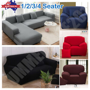 1-4 Seater Stretch Sofa Cover Couch Lounge Recliner Armchair Slipcover Protector