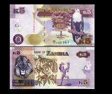 ZAMBIA 5 KWACHA 2012 YEAR P 50 UNC