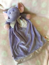 Dakin Purple Pink Elephant Security Blanket Lovie Satin Heart