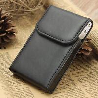 Black Portable PU Leather Business Name Credit ID Card Holder Case Pocket Wallet