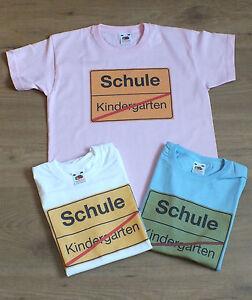 Kinder-Shirt Schulanfang NEUWARE versch. Farben und Größen inkl. Versandkosten