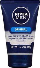 NIVEA FOR MEN Original, Deep Cleaning Face Scrub 4.4 oz (Pack of 3)