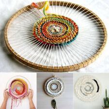 Round Wooden Machine Tool Knitting Loom Household Weaving Diy Handmade Tapestry.